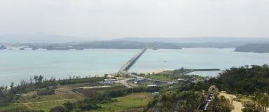 El puente de Kouri en OKINAWA Imagen de archivo