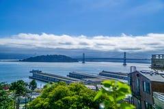 El puente de la bahía Foto de archivo