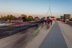El puente de la ciudad en Odense, Dinamarca Foto de archivo libre de regalías