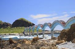El puente de la costa Imagen de archivo