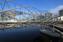 El puente de la hélice, Singapur Imagenes de archivo