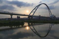 El puente de la luna por la tarde Fotografía de archivo