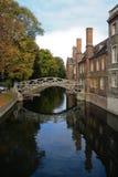 El puente de la matemáticas en Universidad de Cambridge Imágenes de archivo libres de regalías