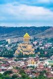 El puente de la paz sobre el río Kura en Tbilisi Imagen de archivo libre de regalías
