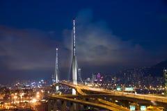 El puente de los Stonecutters Foto de archivo libre de regalías