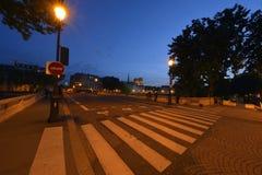 El puente de Louis-Felipe - París fotos de archivo