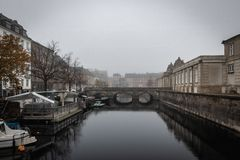 El puente de mármol en Copenhague fotos de archivo