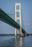 El puente de Mackinac poderoso, Michigan imágenes de archivo libres de regalías
