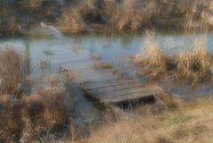 El puente de madera Imagen de archivo