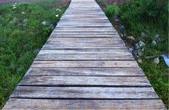 El puente de madera viejo Fotografía de archivo