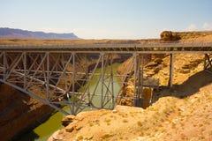 El puente de Navajo en el barranco de la cañada, Arizona foto de archivo libre de regalías