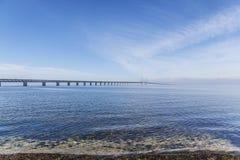 El puente de Oresund, bron de los oresunds imagenes de archivo