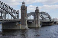 El puente de Peter el grande fotos de archivo libres de regalías