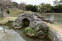 El puente de piedra en Japón Imágenes de archivo libres de regalías