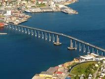 El puente de Tromsoe Fotos de archivo libres de regalías