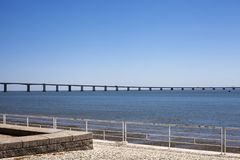 El puente del Gama de Vasco DA en Lisboa Fotografía de archivo