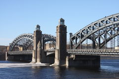 El puente del hierro Foto de archivo libre de regalías