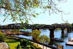 El puente del kwai del río Fotografía de archivo