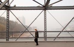 El puente del río Amarillo Foto de archivo