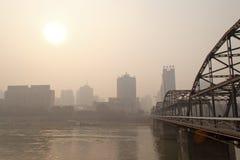 El puente del río Amarillo Imágenes de archivo libres de regalías