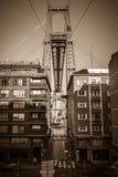 El puente del transportador de la suspensión de Bizkaia en Portugalete, España imagen de archivo libre de regalías