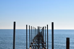 El puente en azul fotos de archivo libres de regalías