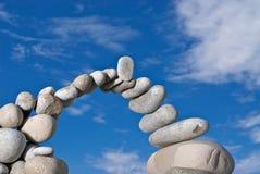 El puente en el cielo Fotografía de archivo libre de regalías