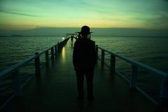 El puente en el mar Fotografía de archivo libre de regalías