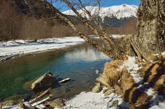 Paseo en montañas Imagenes de archivo