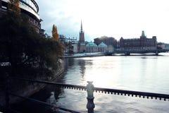 El puente en Estocolmo, Suecia 2016 fotos de archivo