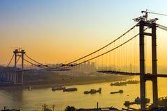 El puente esté en la construcción Foto de archivo libre de regalías