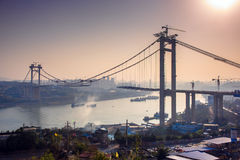 El puente esté en la construcción Imagen de archivo