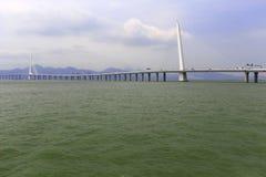 El puente famoso de la bahía de Shenzhen Imagen de archivo