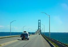 El puente famoso del macinac fotos de archivo libres de regalías