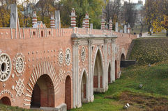 El puente grande a través del barranco Fotografía de archivo libre de regalías