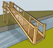 El puente le gusta la estructura Foto de archivo libre de regalías
