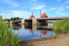 El puente movible de Eagle restaurado con la preservación del mecanismo antiguo Imagen de archivo