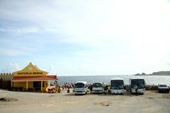El puente natural firma adentro Aruba Imagenes de archivo