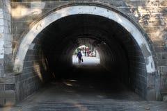 El puente peatonal Imagen de archivo libre de regalías