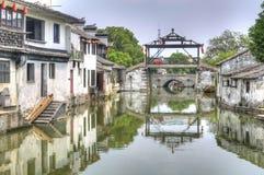 El puente principal de Tongli, China foto de archivo