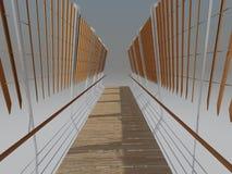 El puente rindió perspectiva Fotografía de archivo