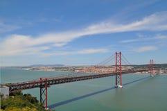 El puente rojo Fotografía de archivo libre de regalías