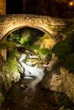 El puente romano agraciado Foto de archivo libre de regalías