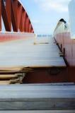 El puente roto de madera, puerto de La Valeta, Malta imagen de archivo