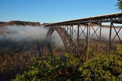 El puente sobre las nubes Fotos de archivo