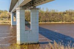 El puente a través del río de Volkhov Fotografía de archivo