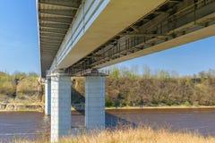 El puente a través del río de Volkhov Imagen de archivo