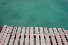 El puente y el mar Fotografía de archivo