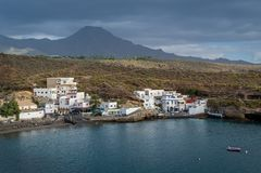 EL Puertito, île de petite ville de Ténérife Image libre de droits