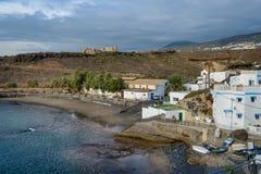 El Puertito zatoki widok z lotu ptaka, Tenerife wyspa Zdjęcia Stock